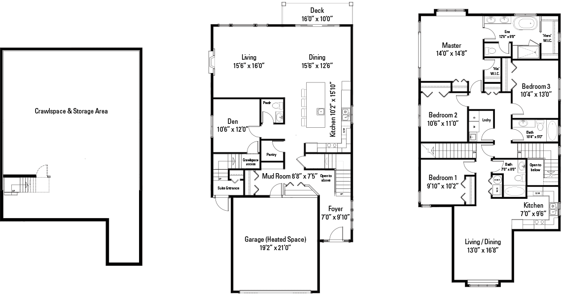 The Sadie Floorplans
